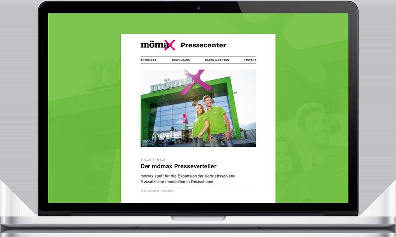 Mömax Pressecenter